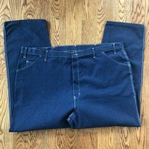 Dickies Jeans - Dickies Mens 50x30 Blue Carpenter Utility Jeans